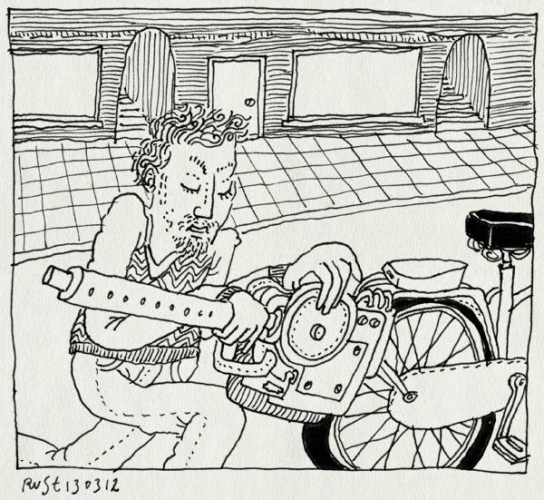 tekening 1754, bouwen, fiets, incredible, live, motor, spartamet, tegenwind