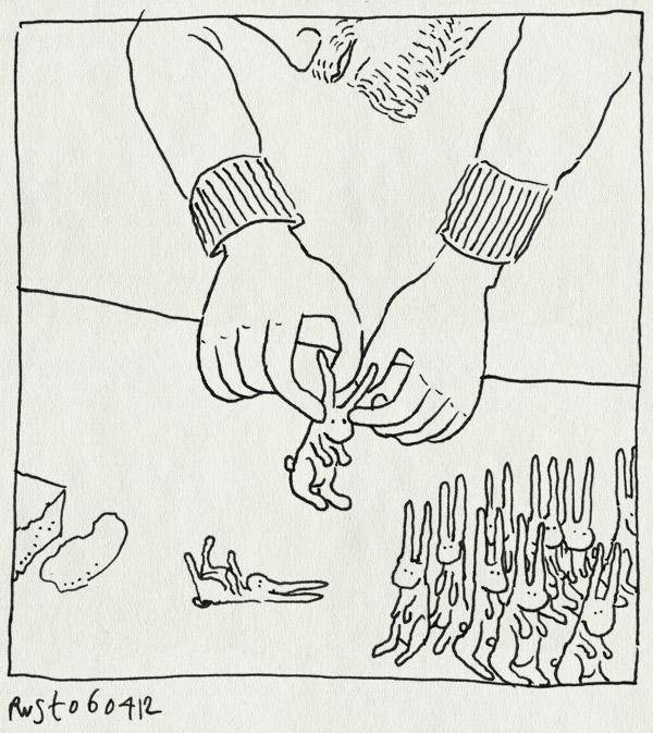 tekening 1778, cupcakes, haasje, haasjes, marsepein, paashaas, paashaasjes, paasontbijt, pasen, trakteren