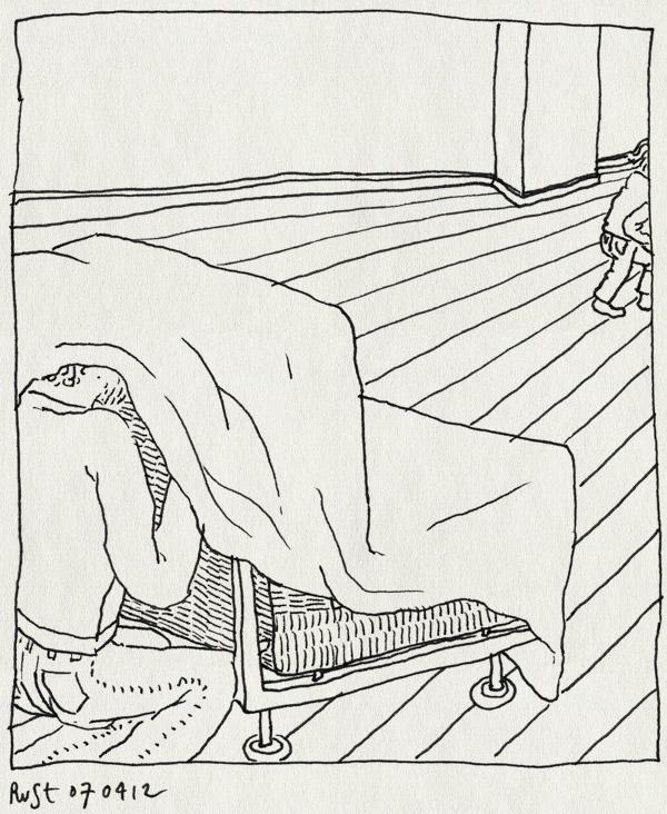 tekening 1779, alwine, kleed, midas, sofa, verstoppen, verstoppertje