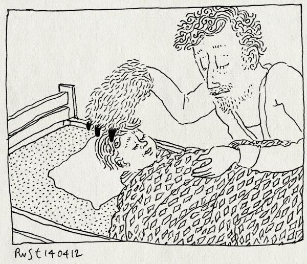 tekening 1786, kamps en kamps, klauw, lief, martine, monster, slaapliedjes