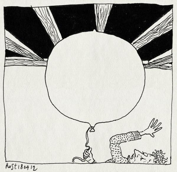 tekening 1790, balken, ballon, groot, helium, recensiekoning, recensiekoninginnenacht, test, vliegen