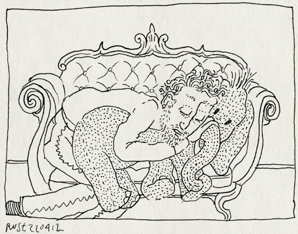 tekening 1794, bank, groot, heerlijk, knuffel, leer, olifant, slapen