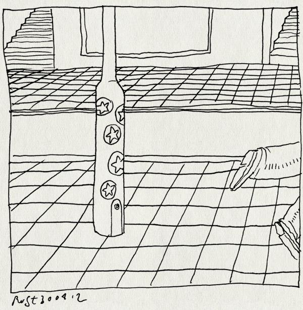 tekening 1802, lantaarnpaal, recensiekoning, sterren, stickers, vijf sterren, wildplakken
