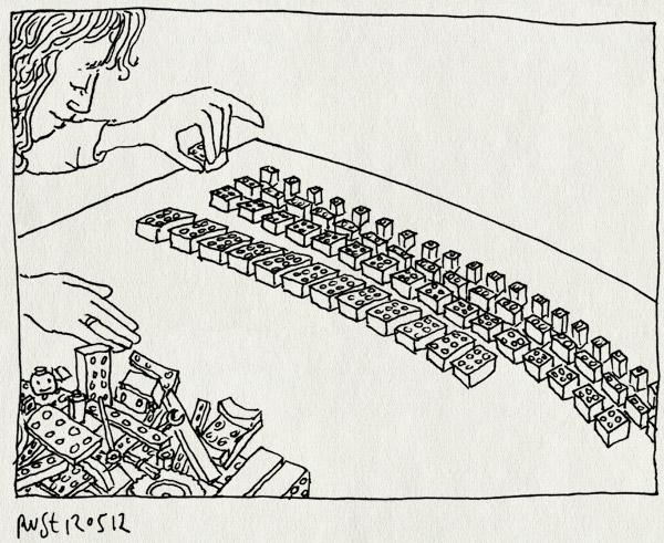 tekening 1814, lego, martine, sorteren