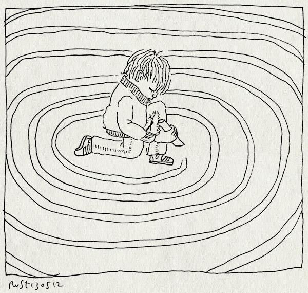 tekening 1815, circels, doolhof, ingesloten, krijten, midas, stoep, stoepkrijten