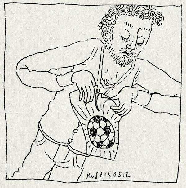 tekening 1817, klaar, pro am, scheuren, voetbal