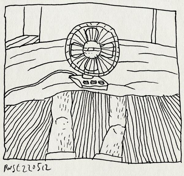 tekening 1824, bed, benen, lelijke tekening, vertilator, warm