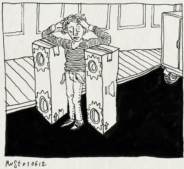 tekening 1834, bestelauto, boxen, eindhoven, herinnering, marquant, opgelicht, oplichting, schaamte, straat