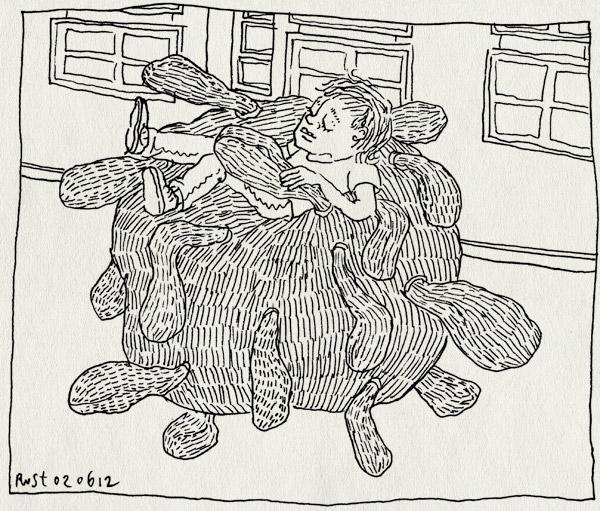 tekening 1835, 3d, braakbal, cartoondiarree, echt, emoties, gemeentehuis, haarlem, jeroen funke, michiel van de pol, midas, opgekropt, scherpscutters, stripdagen, terug naar johan, zitzak