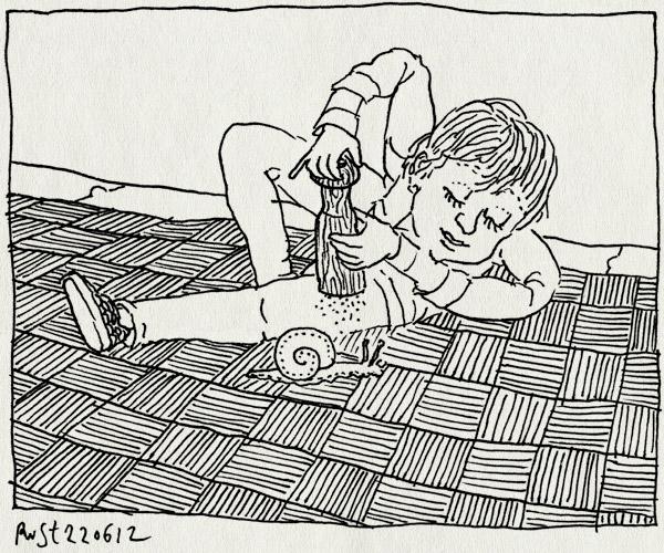 tekening 1855, clip, hiba, midas, peper, pepermolen, pepervaatje, slak, snail, sp, tim, zout, zoutmolen, zoutvaatje