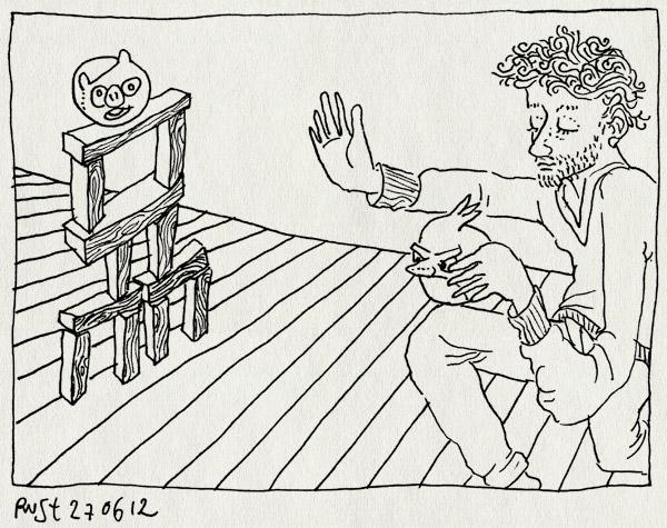 tekening 1860, angry birds, blokken, cadeautje, gooien, kruidvat, midas, rapport
