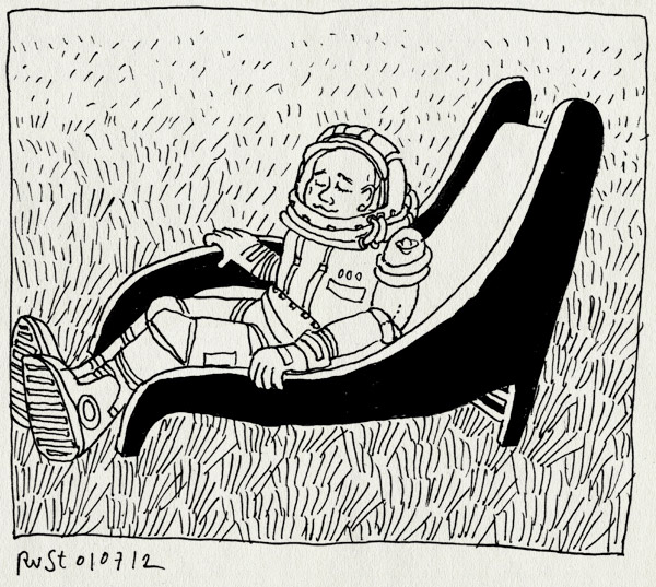 tekening 1864, andre kuipers, astronaut, glijbaan, iss, ruimtepak, Sojoezcapsule, spelen, terugkeer
