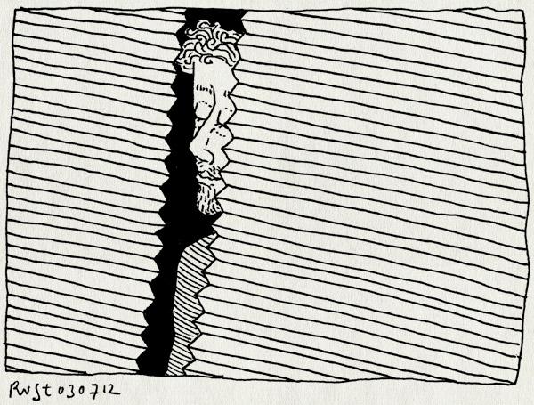 tekening 1866, gordijn, kier, klapgordijn, luxaflex, vouwgordijn, zigzag