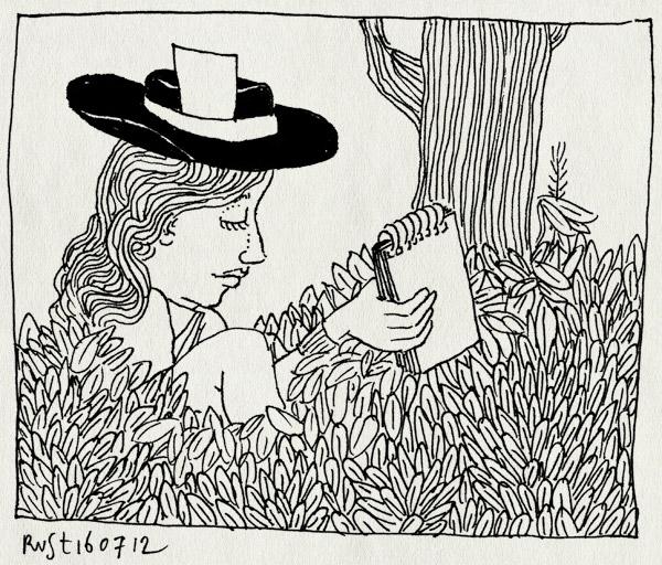 tekening 1879, journalist, martine, paparazzo, reporter, roddeljournalist, roddels, volkskrant, zomerzonden