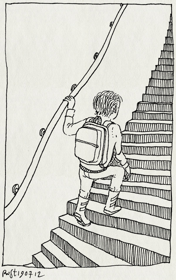 tekening 1882, groeien, groot, midas, middenbouw, omhoog, stoer, trap