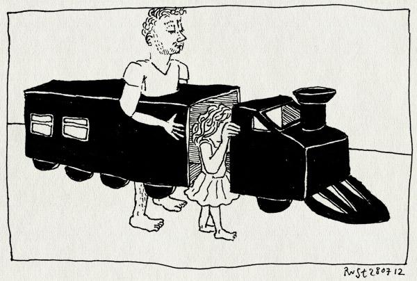 tekening 1891, achterkant, alwine, halte, knutselen, rollenspel, spelen, trin, voorkant