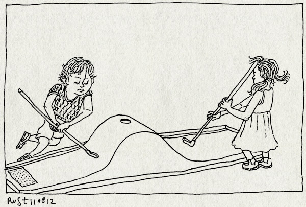 tekening 1905, alwine, amstelpark, midas, midgetgolf, minigolf