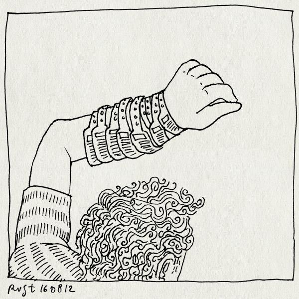 tekening 1910, arm, bandjes, ll12, lowlands, recensiekoning, recensiekoning recenseert lowlands