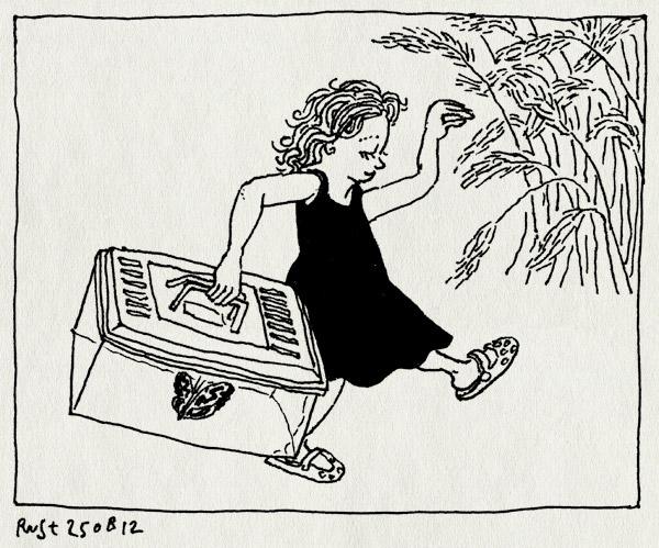 tekening 1919, alwine, beestjes, terrarium, texel, trots, vakantie2012, vangen, vlinder