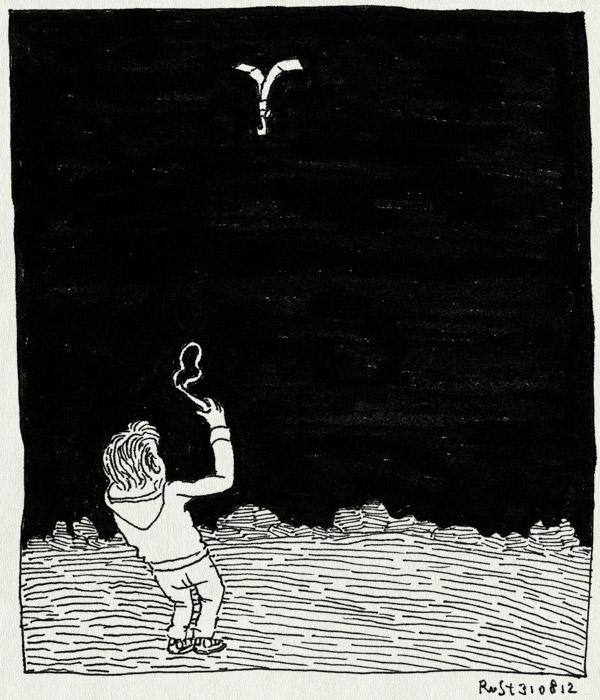 tekening 1925, katapult, lampje, midas, mooistedaguitmnleven, nacht, schieten, texel, vakantie2012, veld