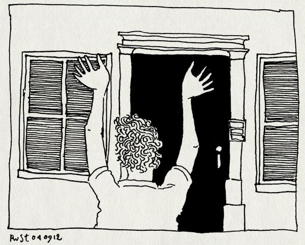 tekening 1929, fijn, nh49, terug, vakantie, voorbij, werk, werken
