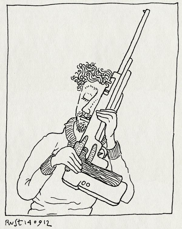tekening 1939, arjan, geweer, jacht, jachtgeweer, lol, luchtdrukgeweer, luchtdrukpistool