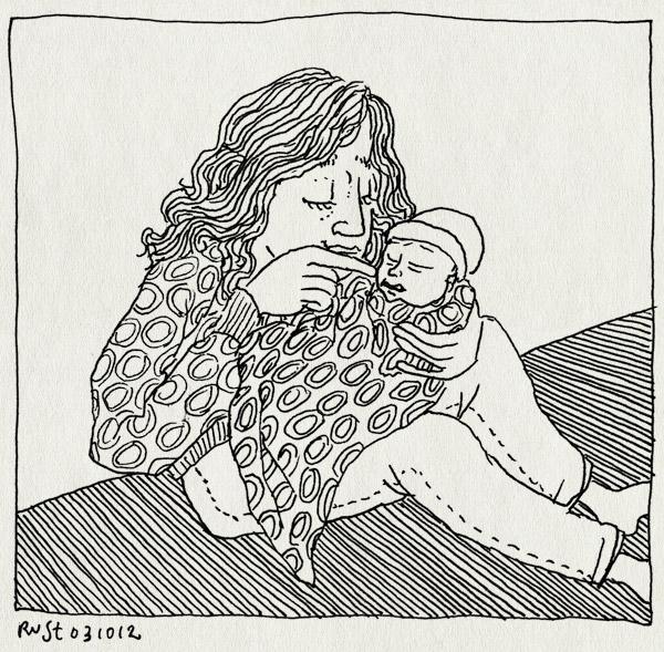 tekening 1958, baby, eveline, geboren, lena, lief, martine, mila, nathan, newborn, nichtje