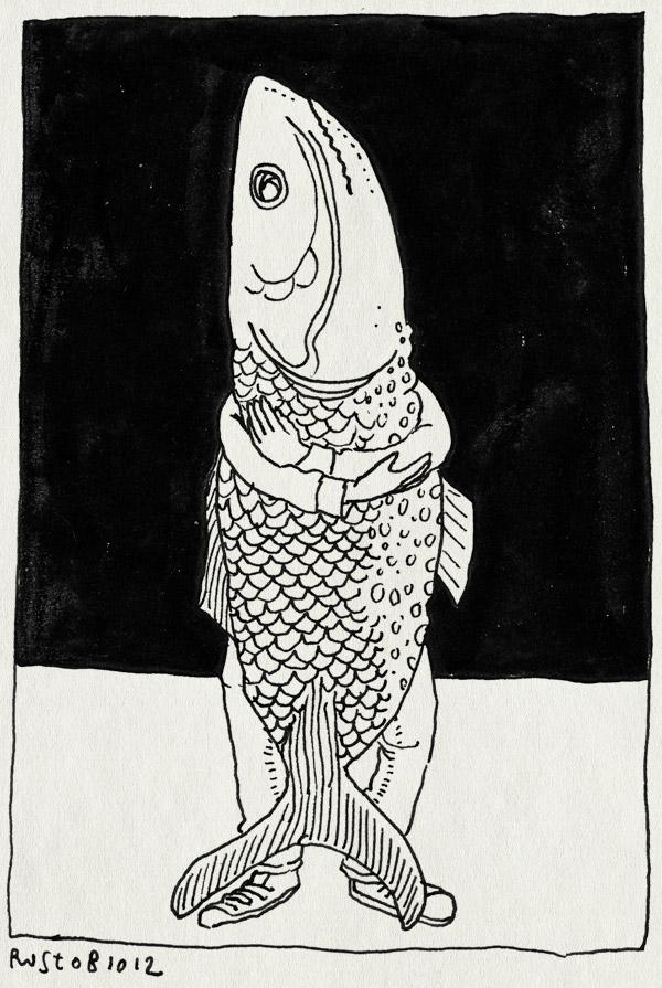 tekening 1963, albert cuijp, alwine, cuijp, lekker, makreel, markt, vis