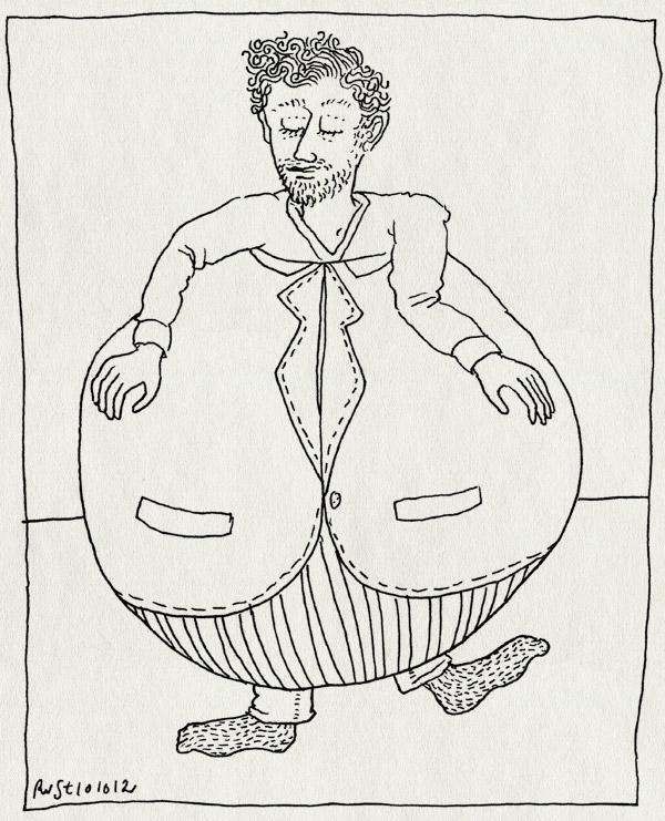 tekening 1965, bol, bol.com, burorust, dik, ernie, mannetje, werk