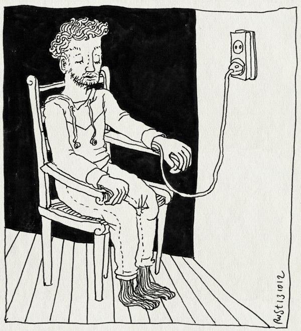 tekening 1968, android, hubot, opladen, real humans, robot, serie, stekker, televisie, zweeds