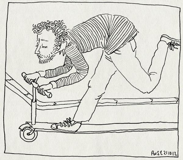 tekening 1976, bremlaan, lang, michel, step, steppen, verlengd