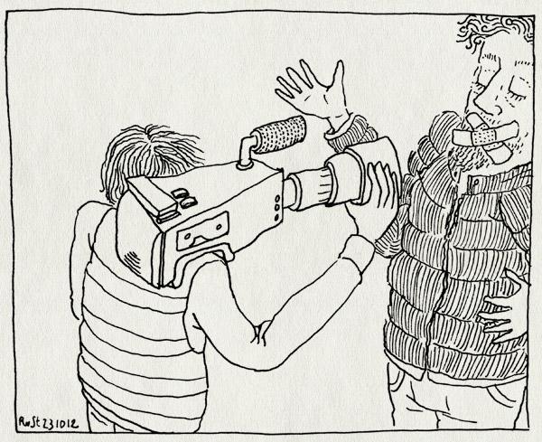tekening 1978, camera, film, mute, recensiekoning, stom, televisie