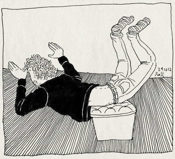 tekening 1979, arjan benning, bellevue, droogvliegen, droogzwemmen, duif, fotoshoot, vogel