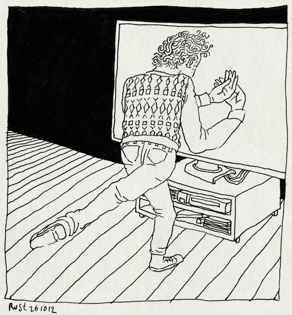 tekening 1981, adfactor, borrel, bowling, kinect, lege handen
