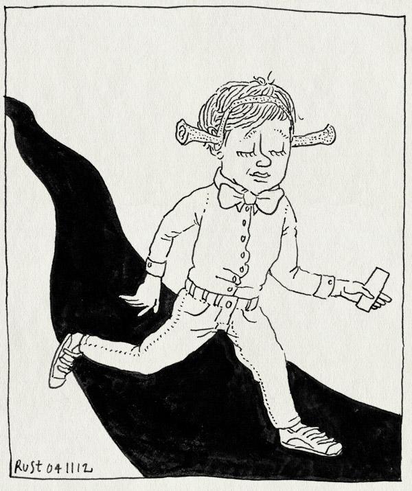 tekening 1990, arjen, groene loper, lief, midas, musical, oren, premiere, rai, shreck, suit up