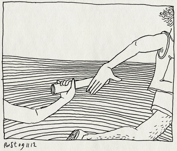 tekening 1995, baton, burorust, duchenne, estafette, idee, lion, stokje