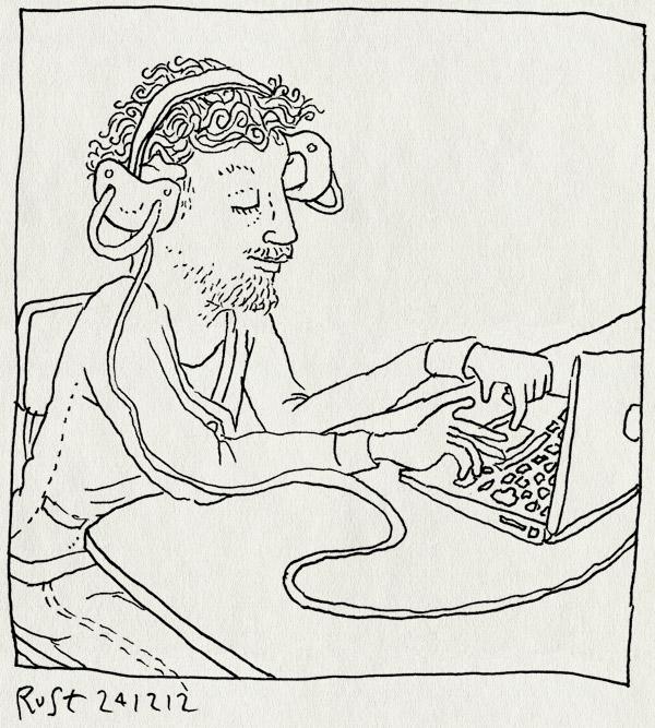 tekening 2040, 3fm, babies, computer, koptelefoon, laptop, radio, serious request, speen, speentjes