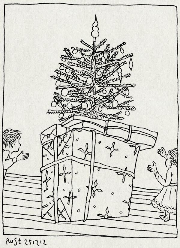 tekening 2041, alwine, arjen, cadeautjes, groot, kerstboom, kerstmis, midas, veel, wii u