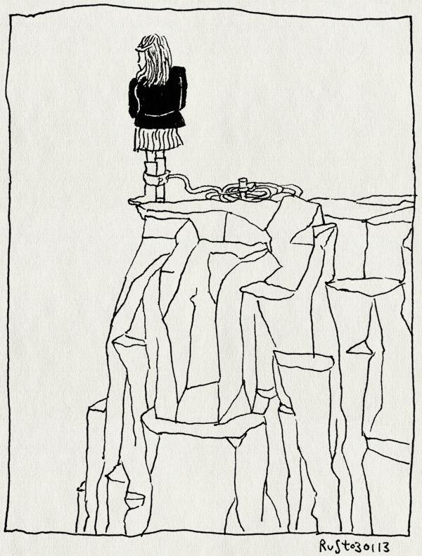 tekening 2050, #widm, bungee, janine, klif, springen, wie is de mol, zuidafrika