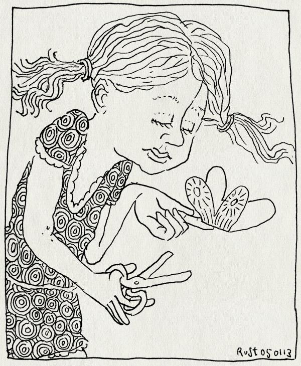 tekening 2052, alwine, knutselen, papier, vlinder, zelfgemaakt