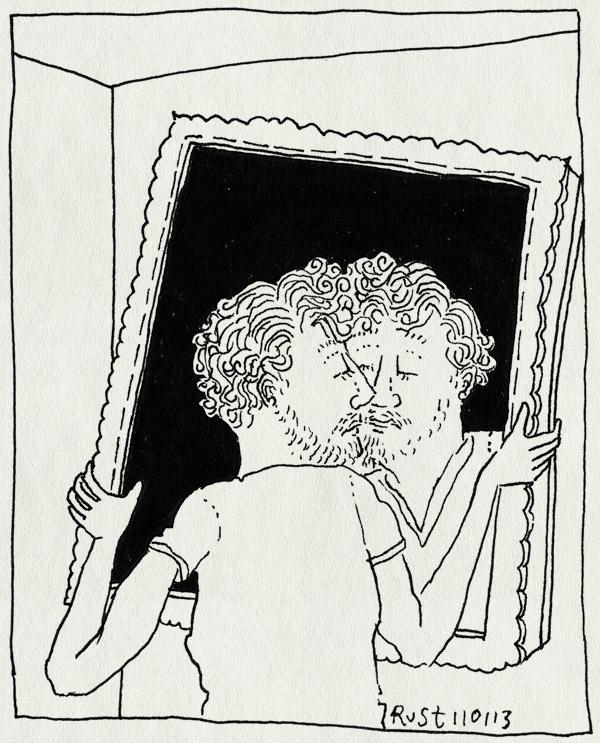 tekening 2058, motregenvariaties, spiegel, spiegelbeeld, tillen