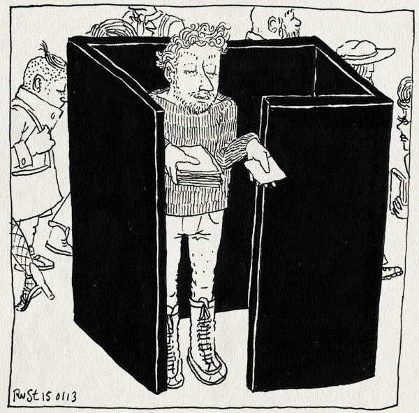 tekening 2062, berlijn, beurs, bread&butter, cubicle, fwf, sorel, stand, uitdelen