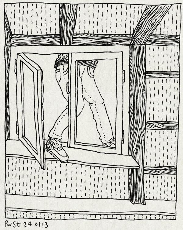 tekening 2071, angst, binnen, buiten, dakgoot, dakkapel, dakraam, eng, lekkage, martine, nh49, oplossing, probleem