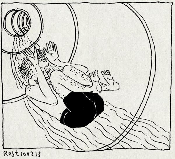tekening 2088, glijbaan, mirandabad, waterglijbaan, wiehieee, zwembad