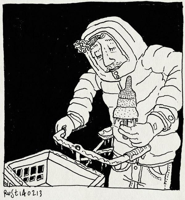 tekening 2092, fiets, ijs, ijspegel, ijzel, raket, raketijsje