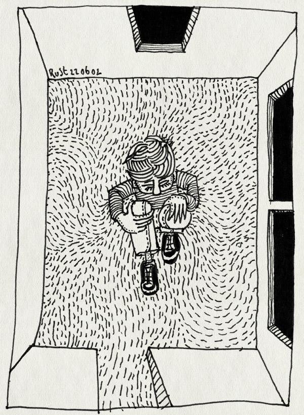tekening 21, kamer, leeg, topview