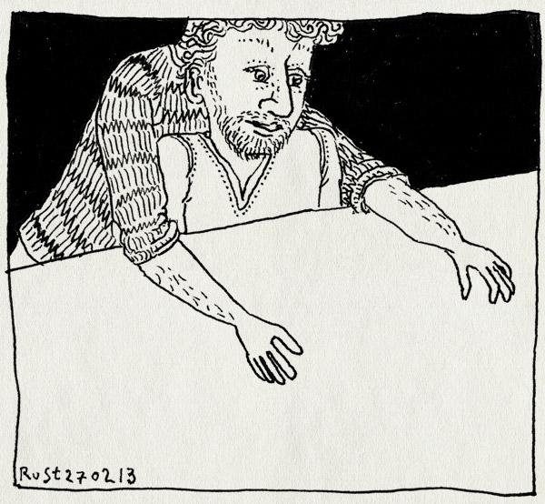 tekening 2105, ecproject, fwf, handen, idee, projectie, tafel, truc, werk