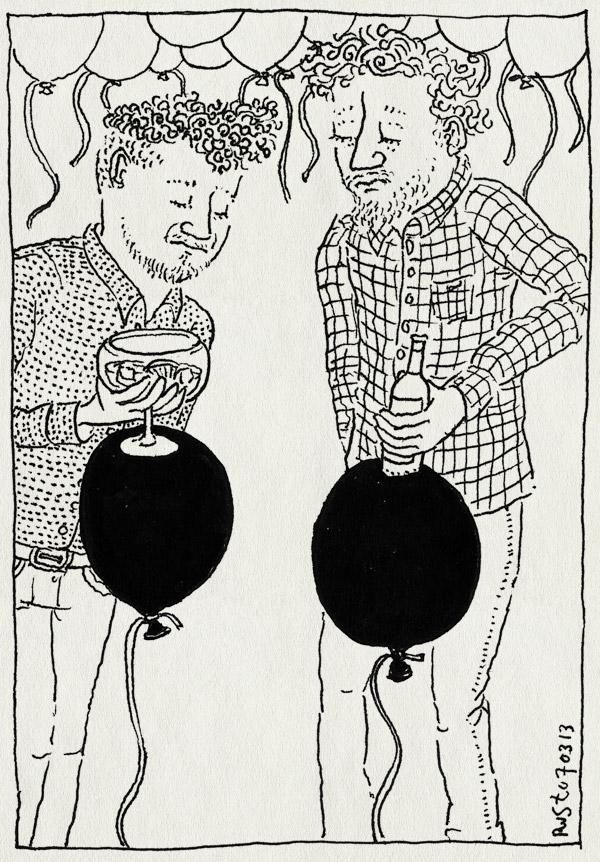 tekening 2113, ballon, ballonnen, daniel, drankje, helium, moltalk, ontknoping, tafeltje, wie is de mol