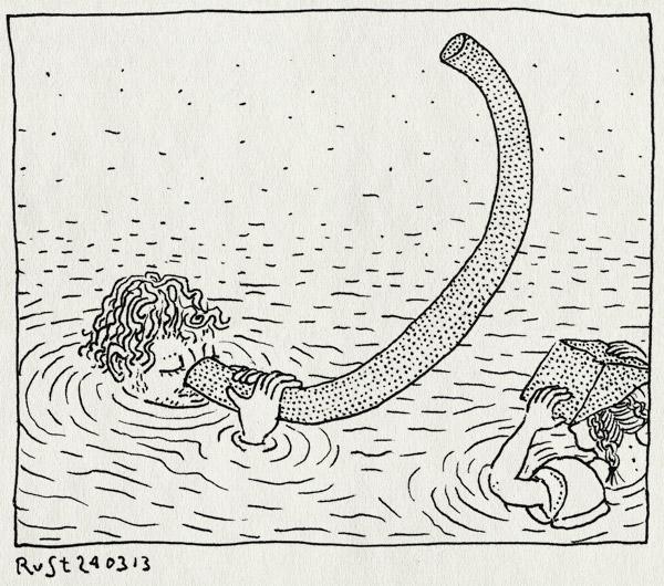 tekening 2130, alwine, driehoek, mirandabad, olifant, water, zwembad, zwemmen