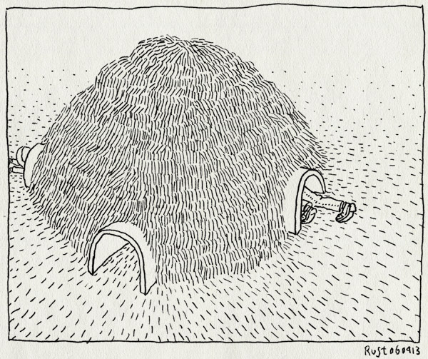 tekening 2143, alwine, gang, konijnenheuvel, kruipen, midas, rijen, speelterrein, staatsbezoek
